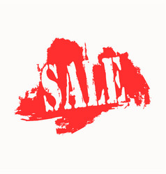 sale icon on red and white background vector image vector image