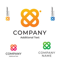 simple flower logo beautiful modern identity vector image