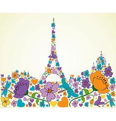 Springtime Paris vector image vector image