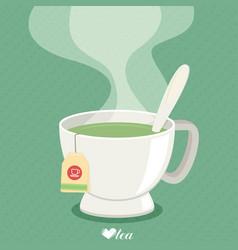 tea cup with smoke flat vector image