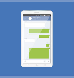 white modern tablet with mobile app internet vector image