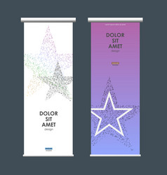business roll up design with star symbol vector image