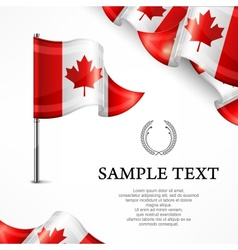 Canadian flag banners with vector image vector image