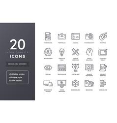 Design line icons vector