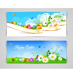 Easter design template vector image vector image