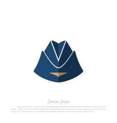 Headgear stewardess civil aircraft vector image
