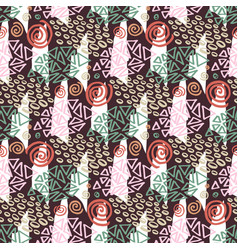 hipster seamless pattern with color textures vector image vector image