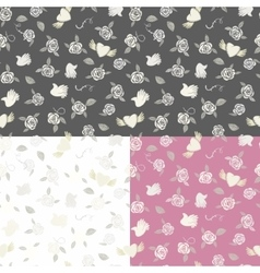 One seamless pattern on three various backgrounds vector image vector image