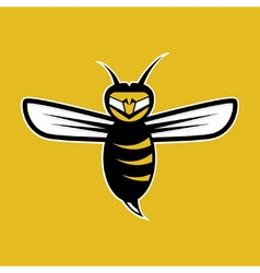 agressive bee mascot vector image vector image