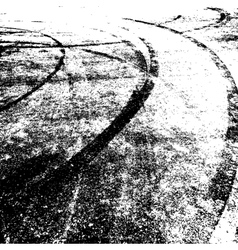 Background with traces of tires vector image vector image