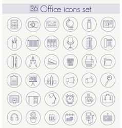 Office Outline icon set Thin line style vector image vector image