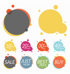 set of sale stickers banners two templates for vector image vector image