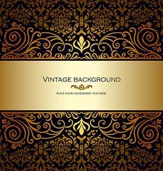 Vintage card royal gold vector image vector image