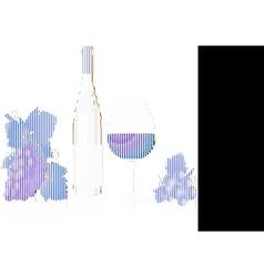wine elements vector image