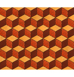 Aged drawing styled cubes pattern vector image vector image