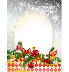 Beautiful decorated Christmas background vector image