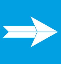 Big arrow icon white vector