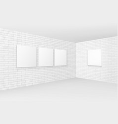 empty white mock up posters pictures frames vector image vector image