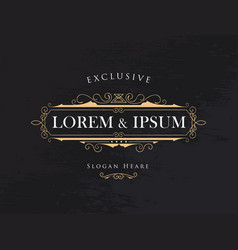 luxury crown frame calligraphy flourishes elegant vector image vector image