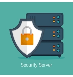 security server protection technology vector image