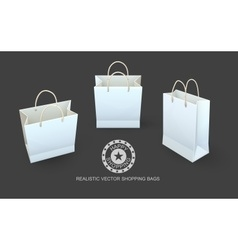 Shopping bags paper packaging vector image