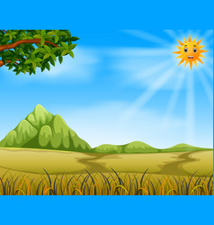 A savannah landscape vector