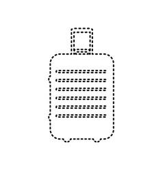 baggage sign black dashed vector image