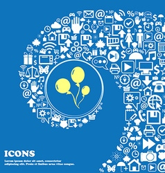 Balloons sign icon Nice set of beautiful icons vector
