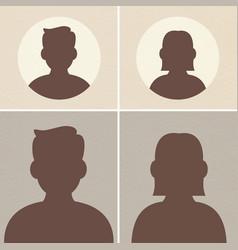 Basic male female silhouette avatar vector