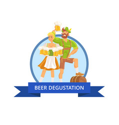 beer degustation octoberfest vector image