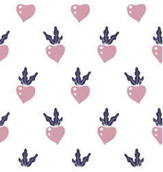 beetroot seamless pattern on white vector image