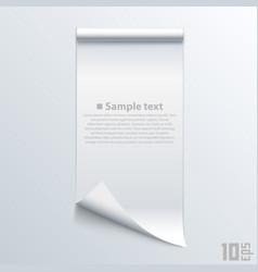 Bent piece of paper notebook vector