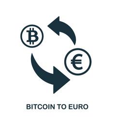 bitcoin to euro icon mobile app printing web vector image