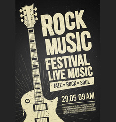 Black rock festival concert party flyer or poster vector