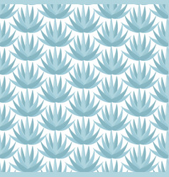 Blue agave seamless pattern vector