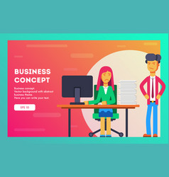 business concept businessman gives a lot of work vector image