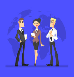 business people cheerful businessmen and vector image