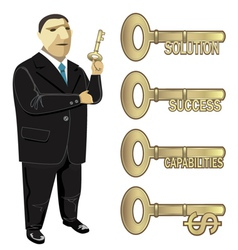 Businessman Key to Business vector