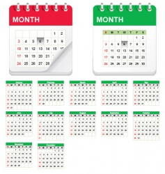 calender icon set vector image