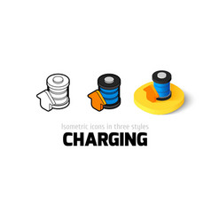 Charging icon in different style vector image