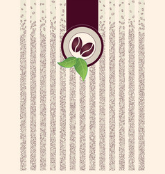 Coffee shop pack background border pattern vector