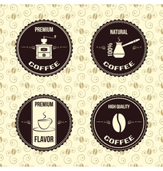 Coffee vintage labels vector