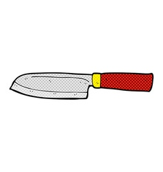 comic cartoon kitchen knife vector image