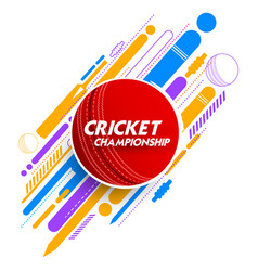 Cricket ball in abstract background vector