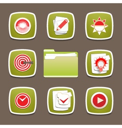 Design modern icons set for document planning vector