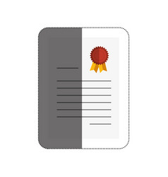 diploma certificate isolated icon vector image