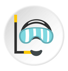 Diving mask icon circle vector