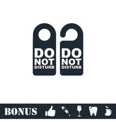 Do Not Distrub icon flat vector image