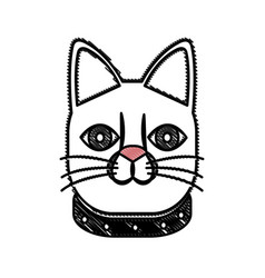 drawing japanese lucky cat symbolic talisman toy vector image