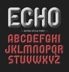 Echo retro style volume font vector
